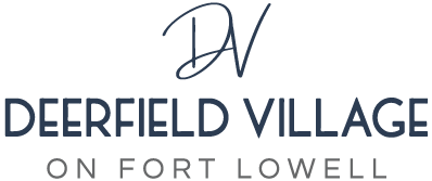 Deerfield Village on Fort Lowell logo